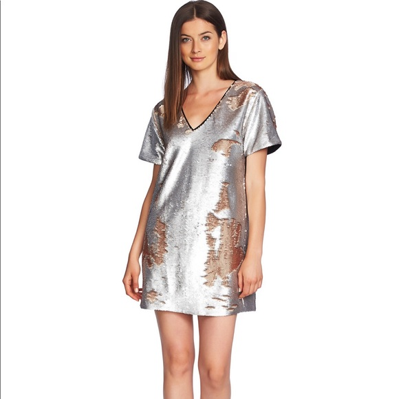 1. State Dresses & Skirts - 1.State Sequin Shift Mini Dress